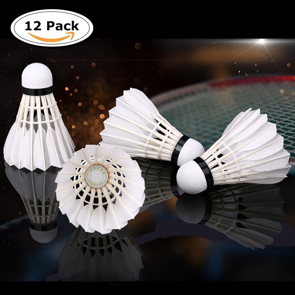 3pcs New Game Sport Training White Duck Feather Shuttlecocks Badminton Ball Ar Bälle