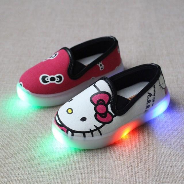 8c3f80f85 ProductImage. ProductImage. ##LED hello kitty Red Stylish cartoon kids shoe  girl ...