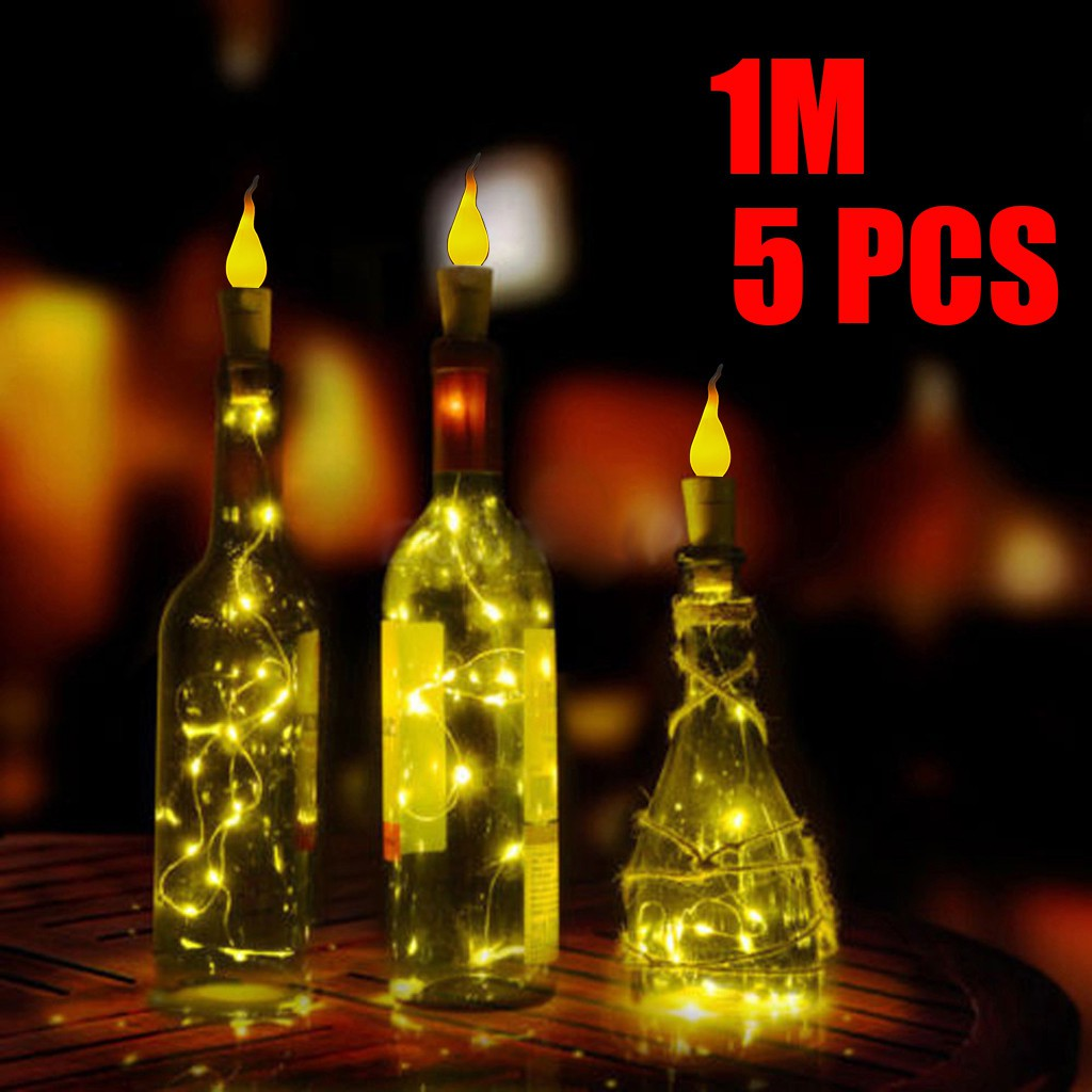 20//30//50 LED Wine Bottle Fairy String Light Cork Starry Night Lamp Party Xmas Bu