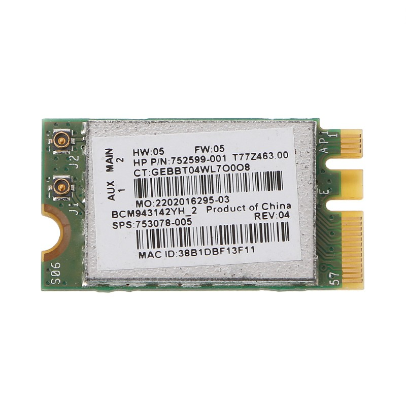 BCM943142Y M.2 NGFF Wireless 150Mbps 802.11b//g//n Bluetooth 4.0 Network Card