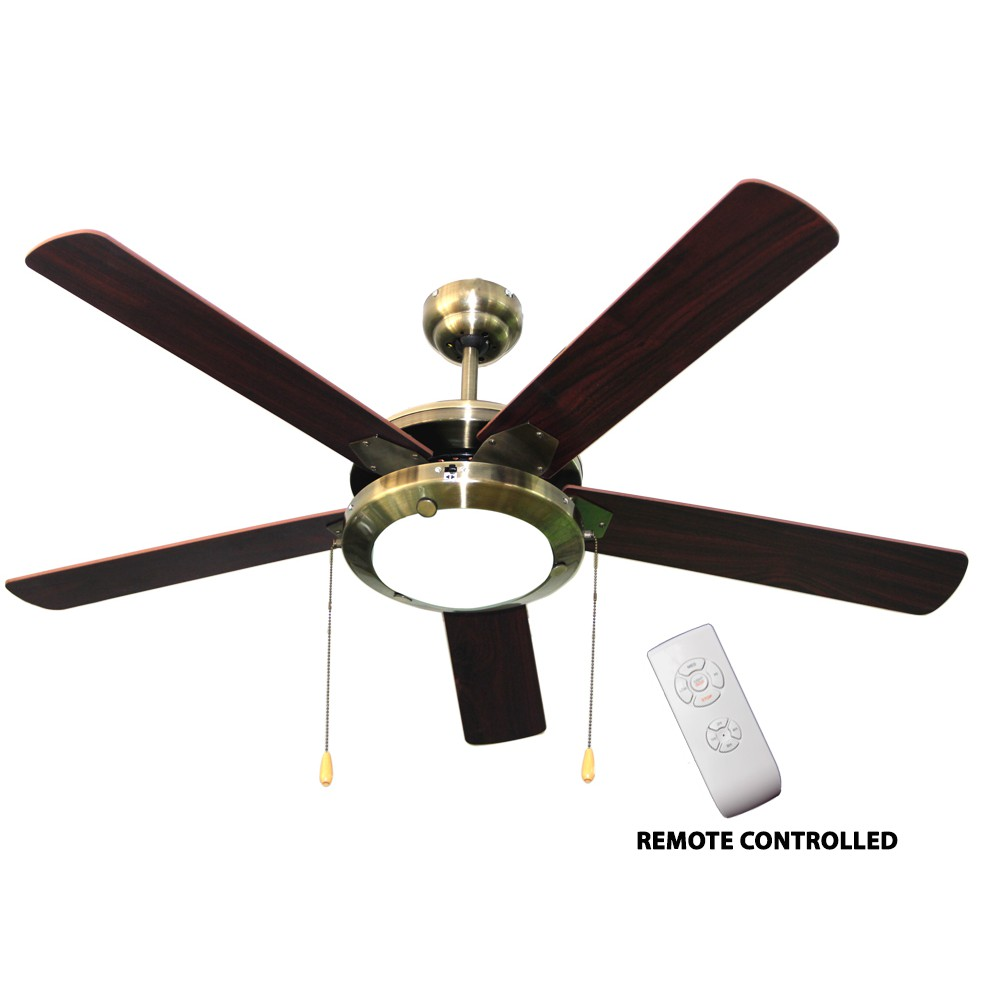 American Star Ceiling Fan 52 With 5 Blades 1 Light And Remote Control Shopee Philippines