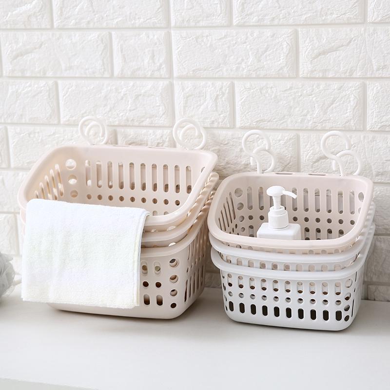 Hook Hanging Storage Basket Kitchen Hanging Basket Toilet Bathroom Cosmetics Storage Basket Plastic Basket Storage Basketchangchangtt Shopee Philippines