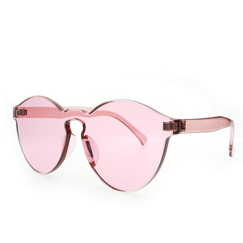 ea673d4c96 Heart Shape Sunglasses Rimless Women Love Colorful Tint Lens Shades  Transparent