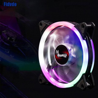 12cm RGB Portable Silent Cooling Fan Low Noise Universal CPU Cooling Fan Nine Mud Design Blades Four Point Arc Damping Design