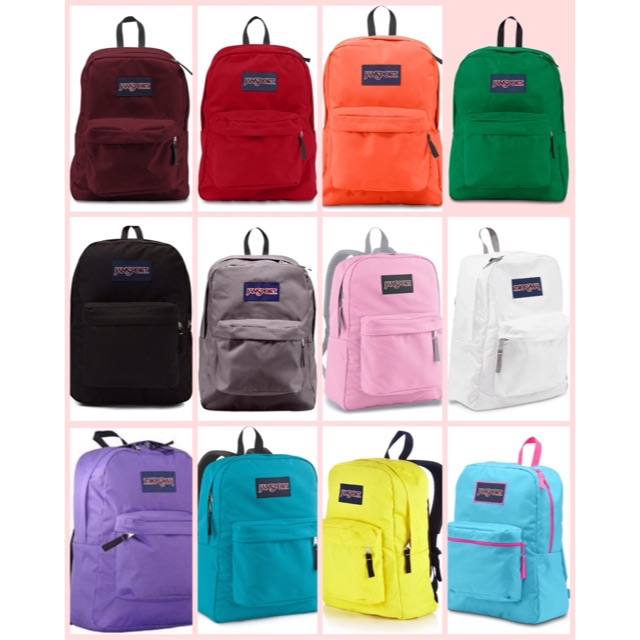 jansport backpack superbreak plain �� shopee philippines