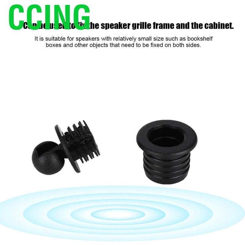 ASHATA Speaker Covers 2 PCS 1 inch Audio Speakers Decoration Protective Grills Cover Steel mesh Case,Round
