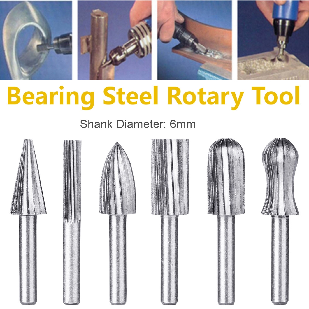 HSS Router Grinding Burr Drill Bits Sets Grinder Metal Plastic Wood Rotary  Tool