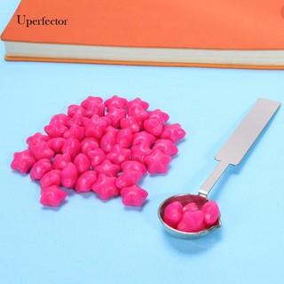 innersetting 100pcs Retro Fire Painting Pill Octagon Sealing Wax Grain Stamping Envelope