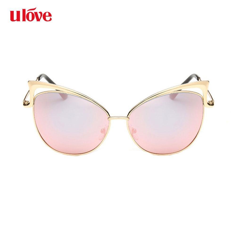 d6b2e6009 Women's Cat Eye Sunglasses Designer Sun glasses Travel Eyewear Vintage Pink  | Shopee Philippines