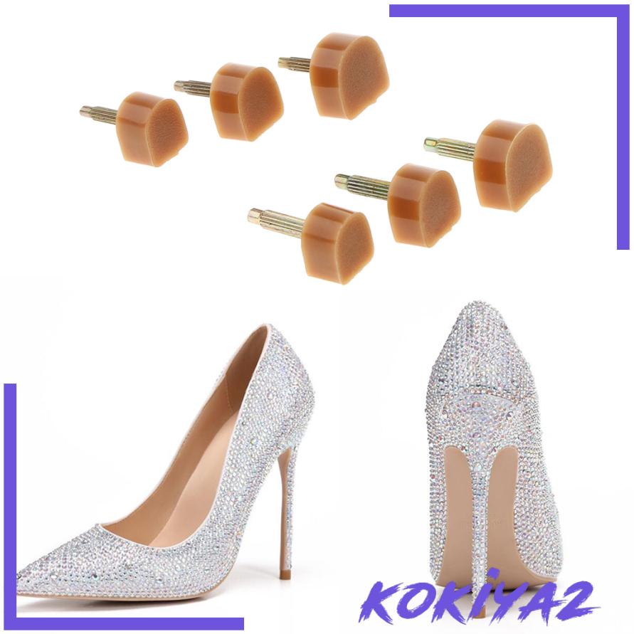10 Pairs Apricot Women High Heel Tips Taps Caps Shoes Repair Making Supplies