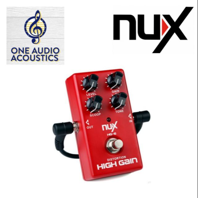 Strong-Willed Nux Hg-6 Distortion High Gain Effect Electric Guitar Effect Pedal True Bypass Without Return Pro Audio Equipment