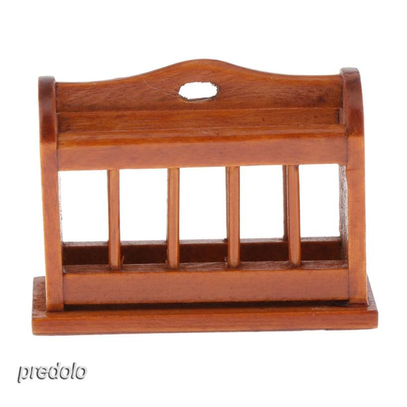 1:12 Miniature Magazine Display Rack Dollhouse Office Furniture Decoration