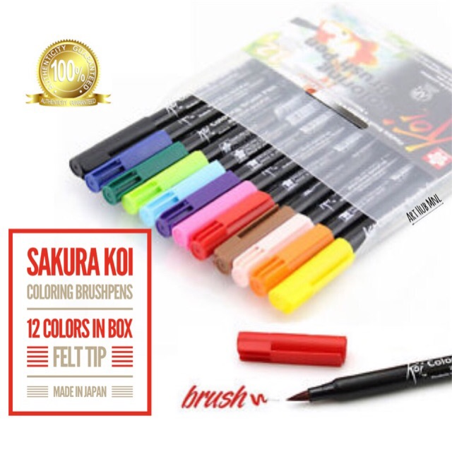 Sakura Koi Coloring Brush Pens12/24/48