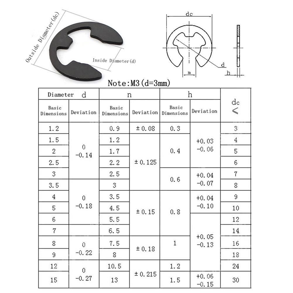 Other auto Parts,Carbon Spring Steel E-Clip Snap Ring Circlip Retaining Ring Kit 160pcs Auto Replacement Parts