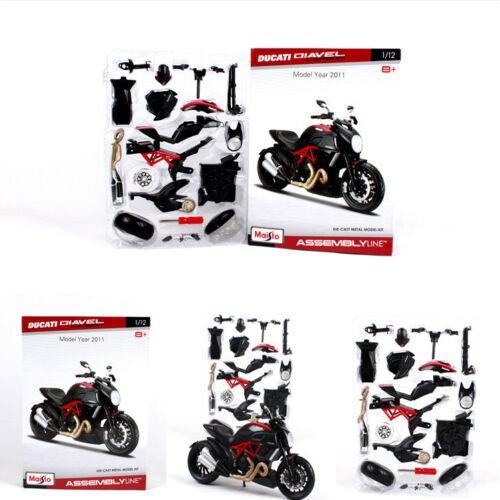 Maisto 1:12 Ducati Diavel Carbon Assembly line Kit Motorcycle Model Toy Black