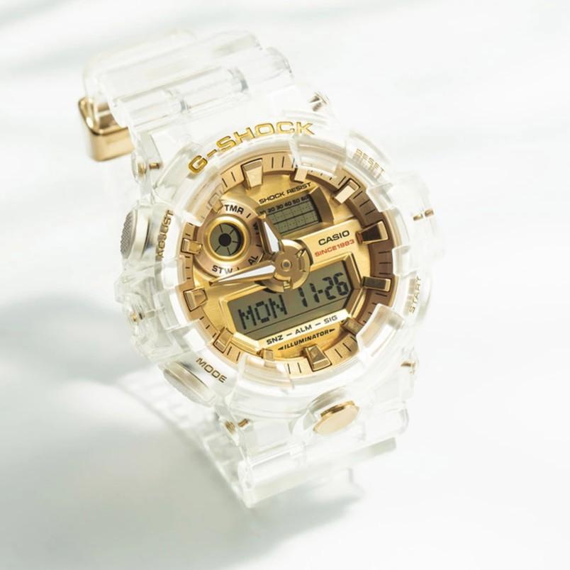 G Shock Ga 700 Glacier Gold Transparent 735e Japan Oem Watch