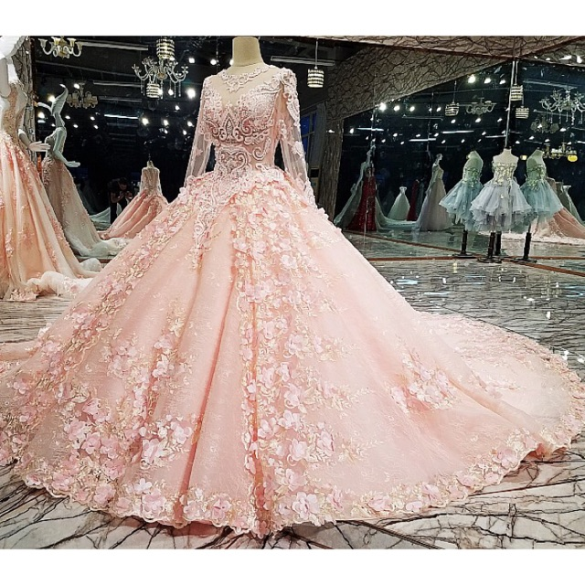 Luxury Bridal Wedding Prom Debut Long Evening Ball Gown | Shopee ...