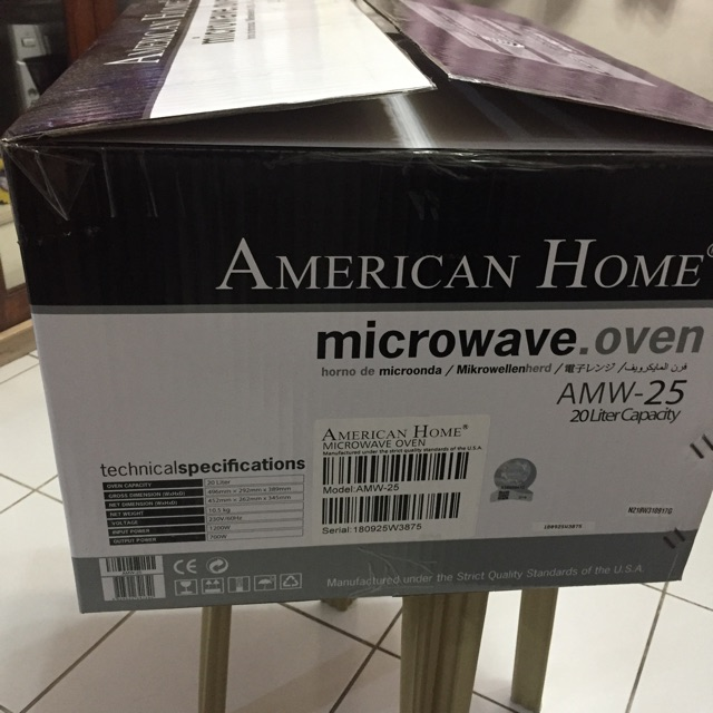 American Home Microwave Oven Sho