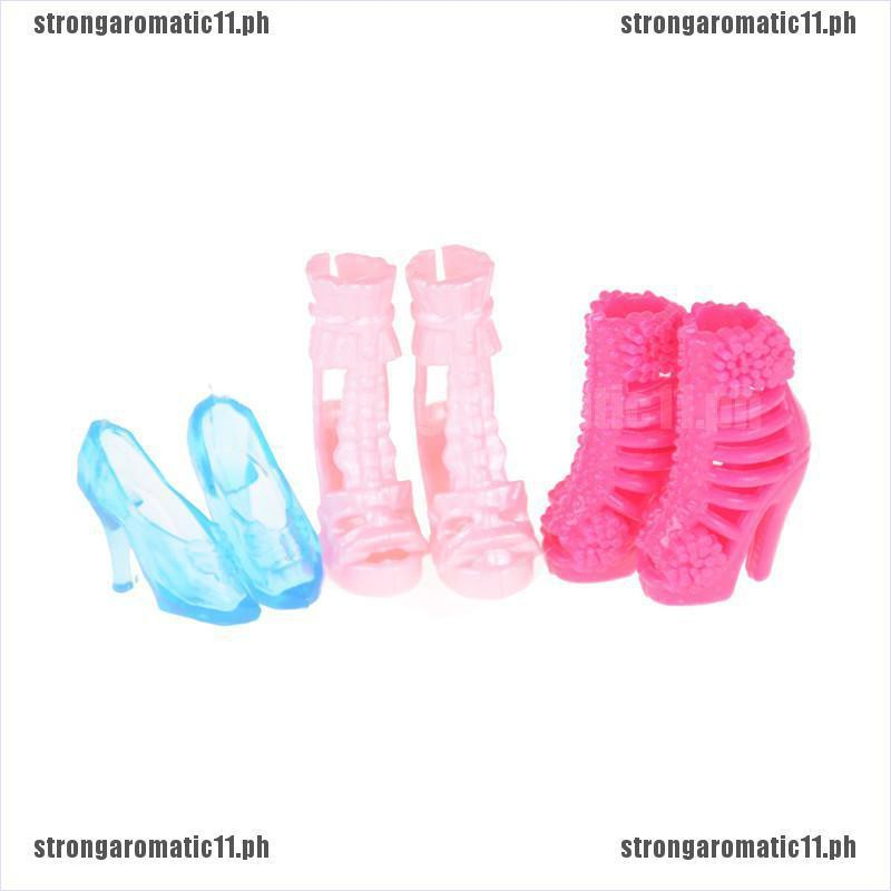 """10Pairs New Fashion High Heeled Shoes 2.17/"""" Boots for 11/""""  Dolls Out up"""