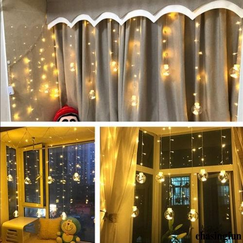 Christmas Light Curtains.Mu 2019 New Popular Led String Ball Light Curtains Hope