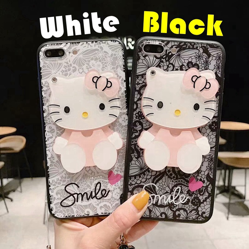 d41983178 ProductImage. ProductImage. ❀Casing Hard Case Motif Hello Kitty Aksen Renda  + Cermin Samsung Galaxy S4 S5 S6 ...