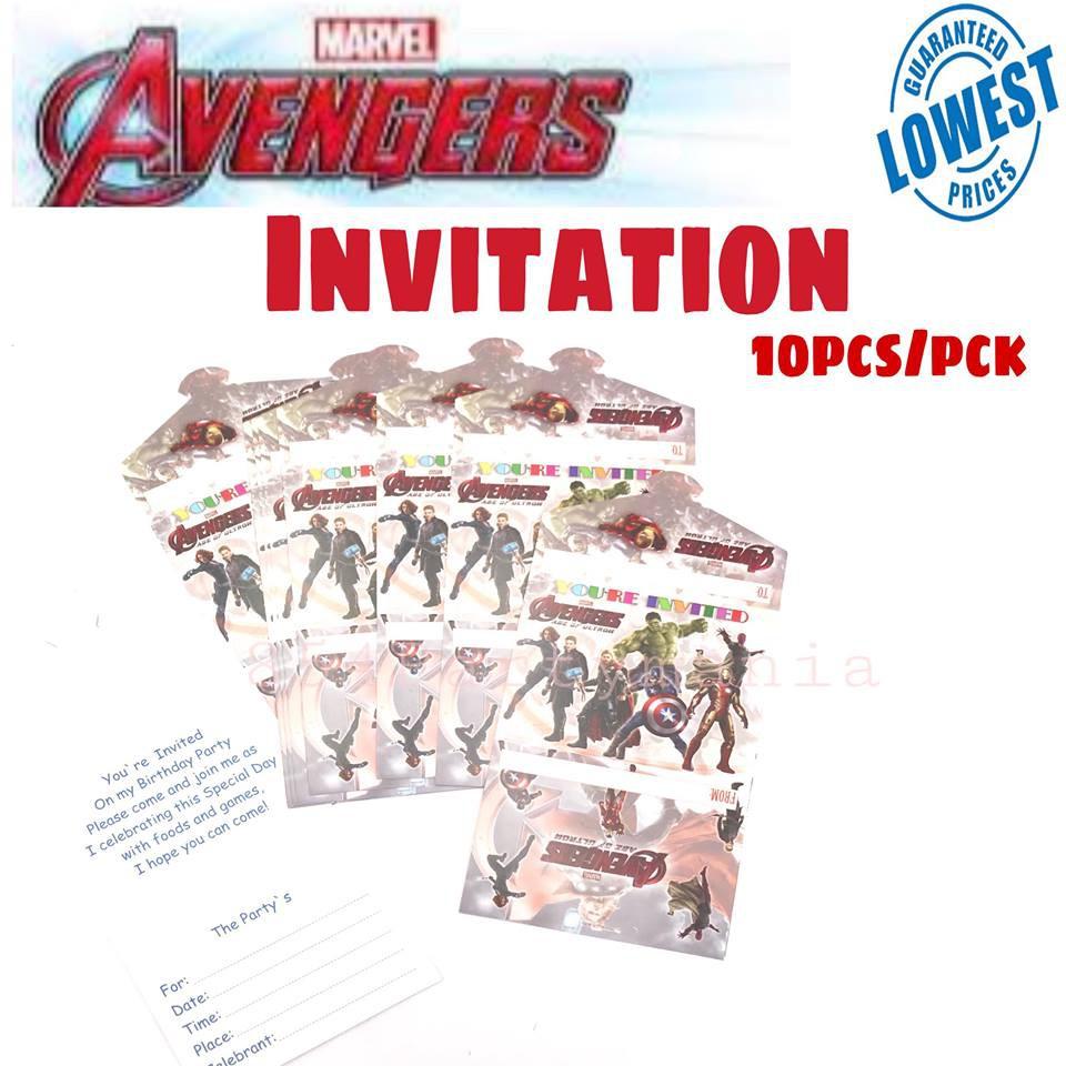 Invitation Avengers (10pcs/pck) Party Invites | Shopee Philippines