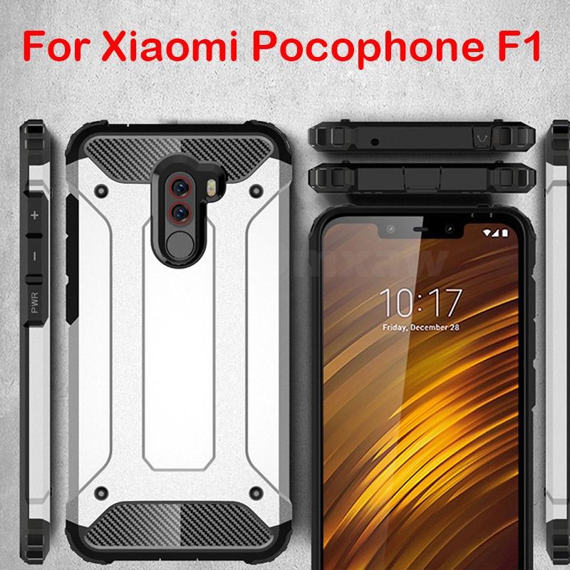 newest ea3df d33f8 Xiaomi Pocophone F1 Case Anti Shock Impact Hard Armor Cover