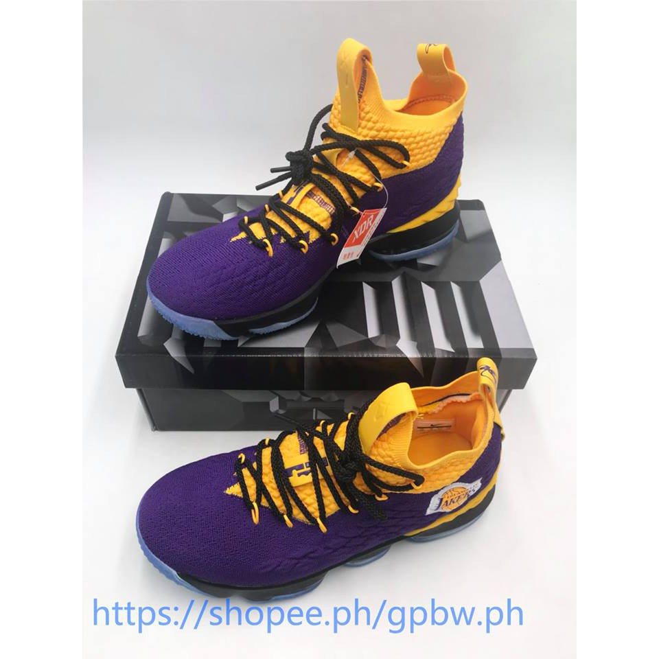 promo code 18bf8 33e01 Nike Lebron 15 Lakers Edition Basketball shoes For man with box