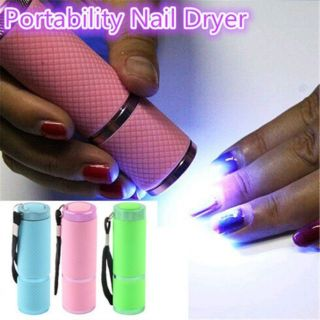 9 LED UV torch light for resin or nails with free batteries
