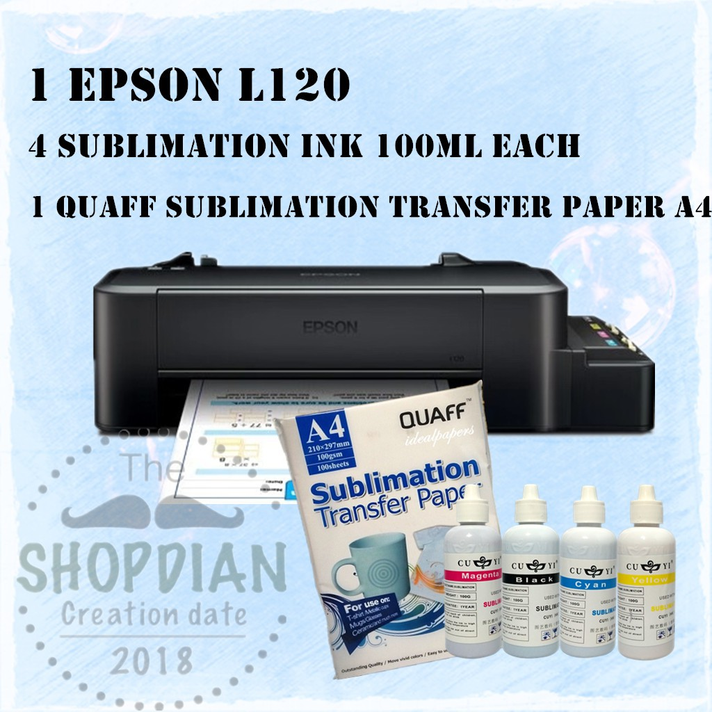 EPSON L120 Printer Sublimation PACKAGE