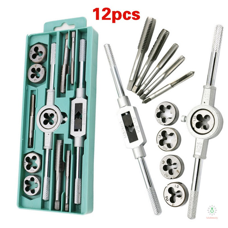 M Taps Hole Reamer Taps And Dies Metric Plug Wrench Best Quality 20pcs Tap Die Kits M3 M12 Straight Flute Hand Wrench Holder Car Taps And Mm Tool