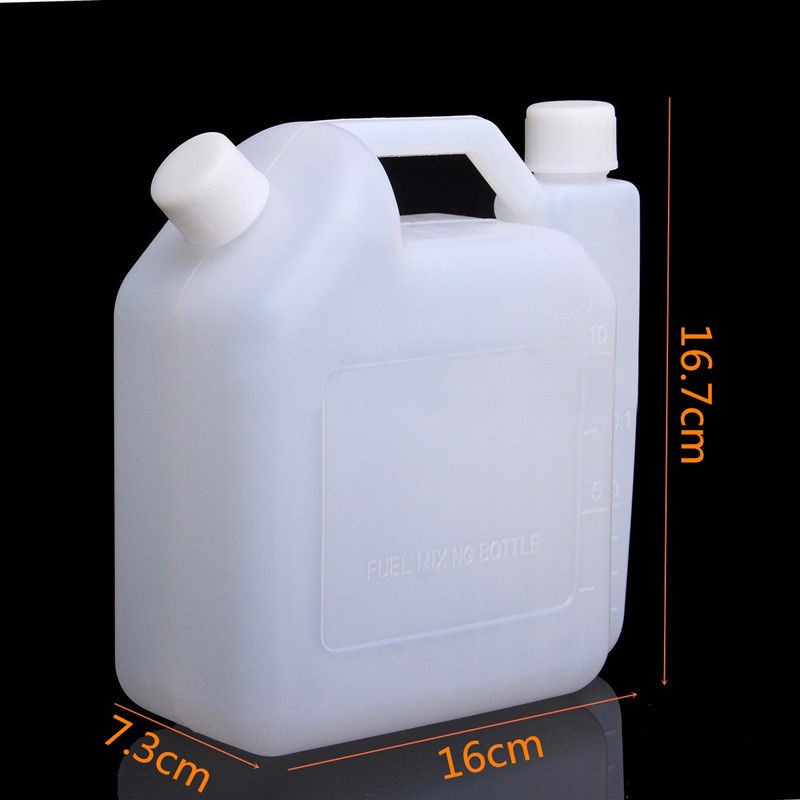 2-Stroke Fuel Mixing Bottle Petrol Oil Mix Strimming Chainsaw Lawn Mower