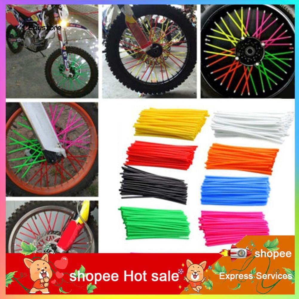 36Pcs//Set Motorcycle Bike Spokes Sleeve Bicycle Wheel Rim Steel Wire Cover Clip
