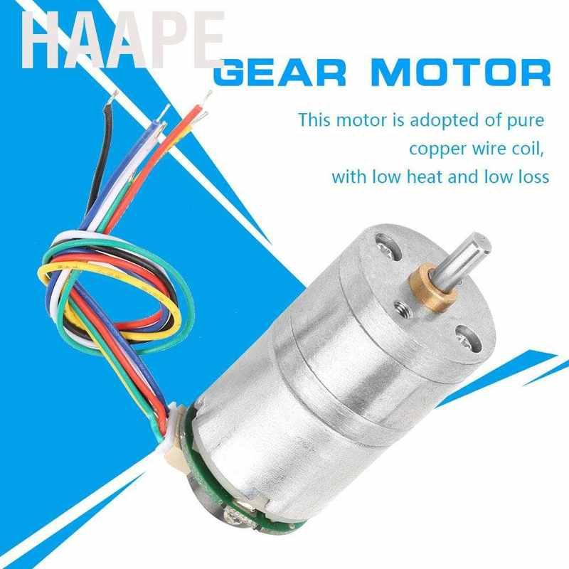 DC12V GM25-310 Encoder Gear Motor Metal Speed Reduction 30RMP-500RMP SG 6*2.5cm