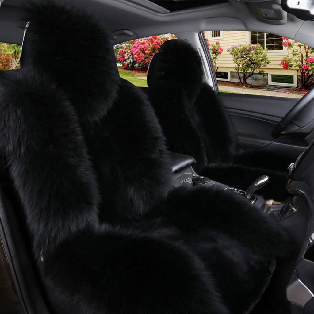 Pet Bed Comforter Plush Chair Pad Motorbike Sheepskin Seat Cover