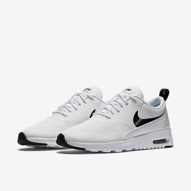 Nike Air Max Thea Minimal mesh uppers with synthetic and leather overlays for targeted support with a lightweight feelMesh at forefoot and