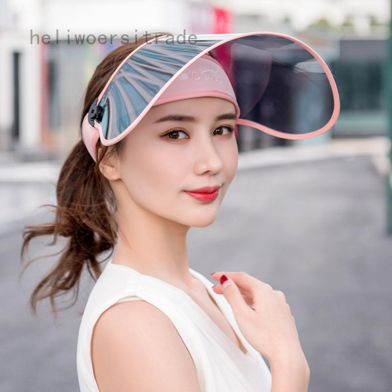 UK Adjustable Sun Visor Hat Headband Cap UV Protection Transparent Outdoor Walk