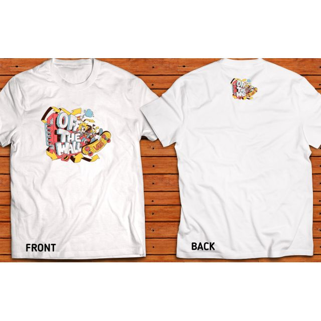 Off the wall vans shirt front and back design