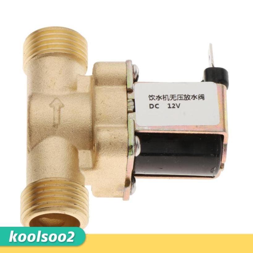 1//2 Brass Electric Solenoid Valve for Solar Water Heater-Quality is Our Culture Electric Solenoid Valve 1//2 12V