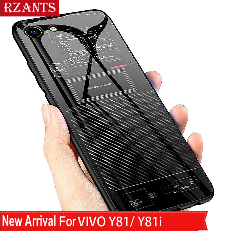 Vivo Y81/Y81i Case【Gradient Tempered Glass Back】Thin Cover | Shopee Philippines