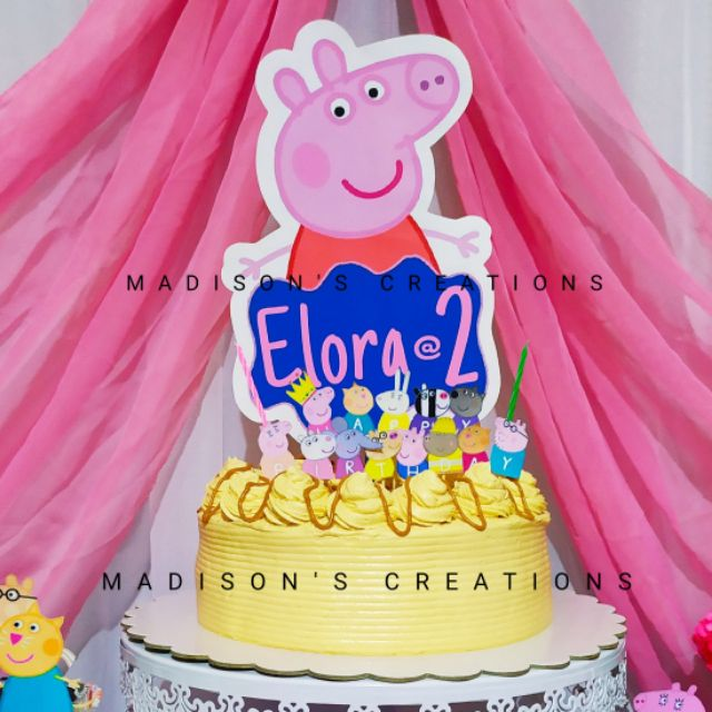 Peppa Pig Cake Cupcake Toppers Personalized New George Pig Cake Toppers Shopee Philippines