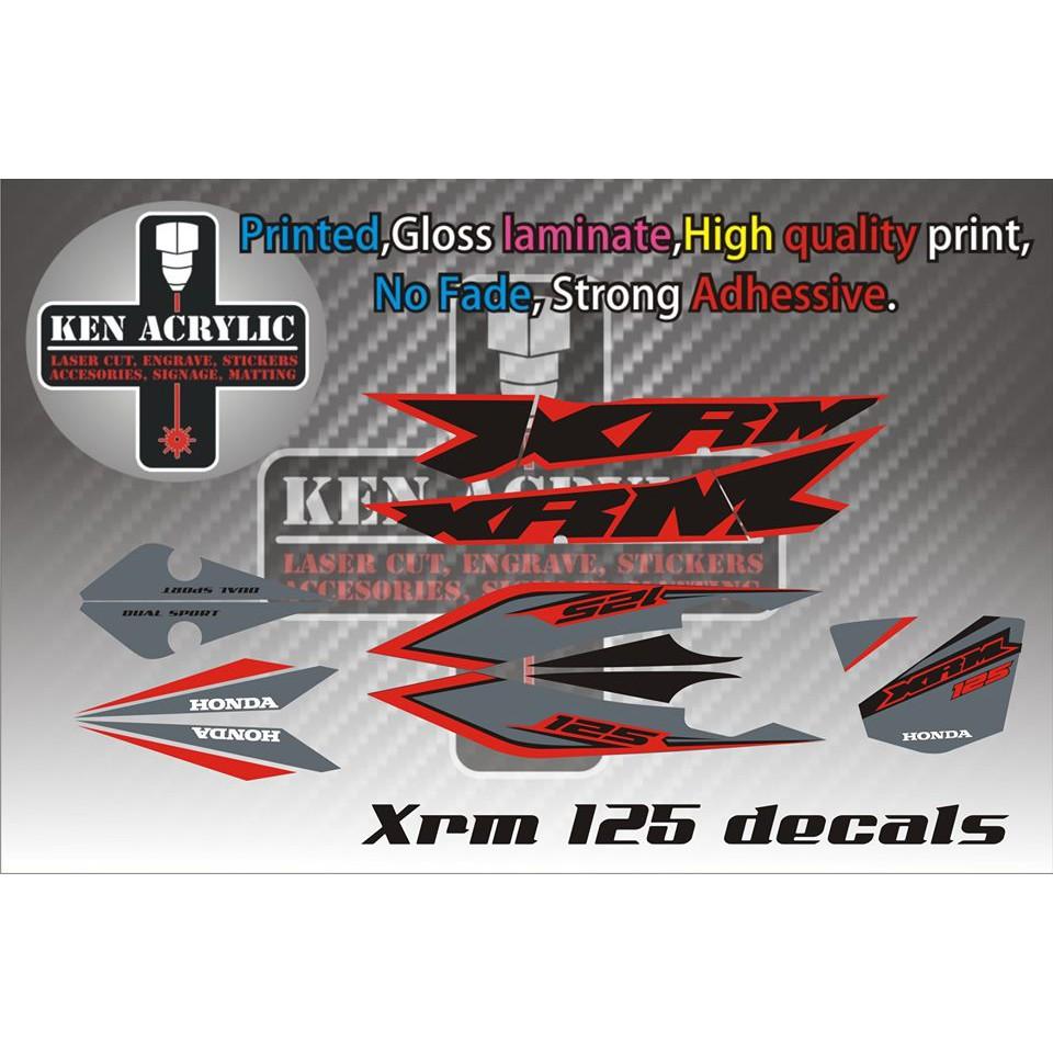 Xrm 125 stock decals