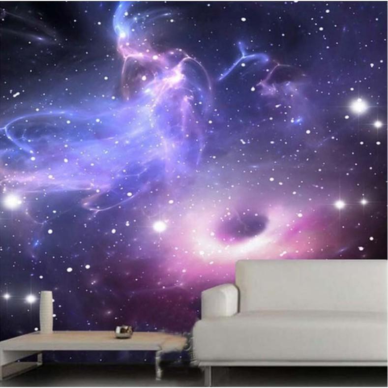 galaxy ceiling wallpaper glow in the dark
