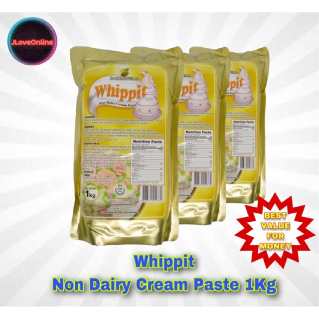 cream whippit shopee dairy bakersfield whipping 1kg cake ingredients