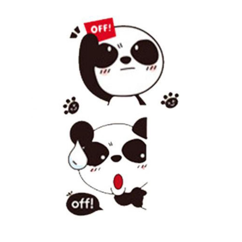 1 Set Cartoon Cute Panda Quote Off Wall Switch Sticker Shopee Philippines
