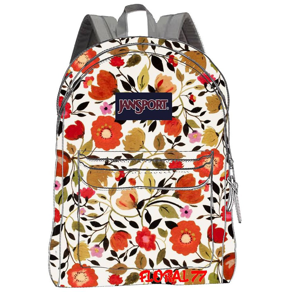 c5dd8cb9fad SPECIAL PRINT FLOWER DESIGN JANSPORT BAG   Shopee Philippines