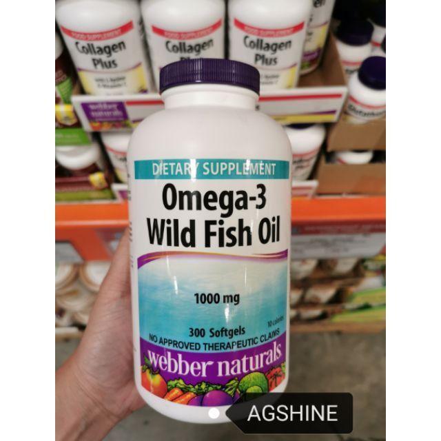 Webber Naturals Omega 3 Wild Fish Oil 1000mg 300softgels Shopee