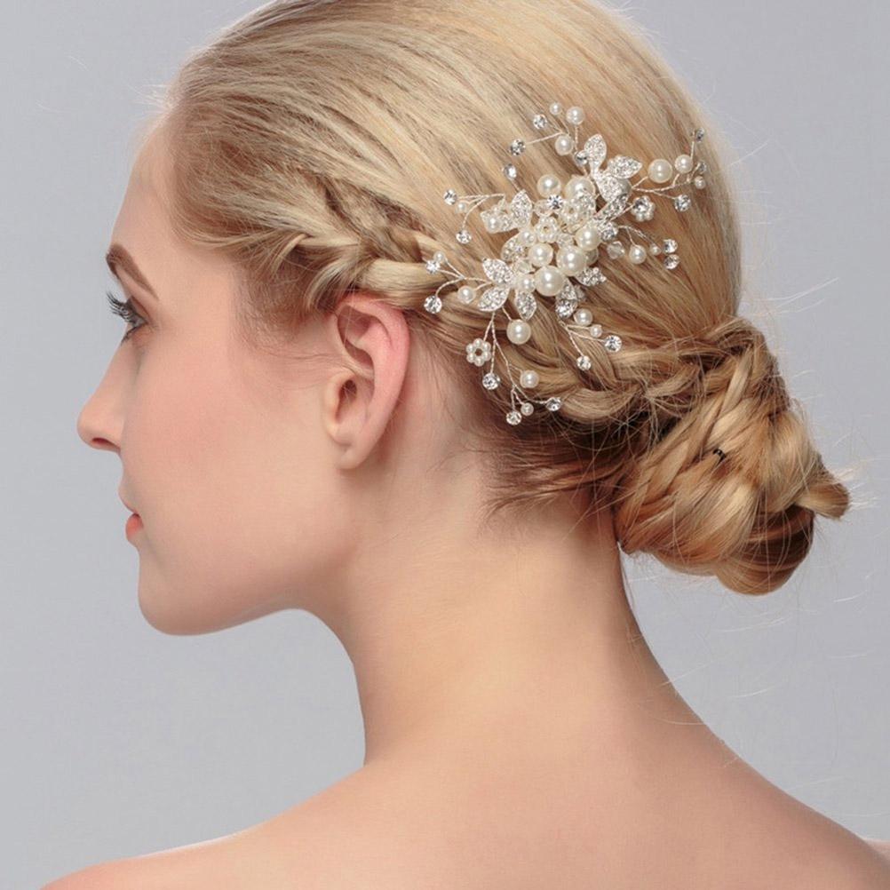 Flower Hair Comb Bride Tiaras Crowns
