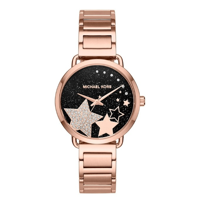 c6c0afe473d4 Michael Kors Parker Two-Tone Acetate Rose Gold Watch MK6402