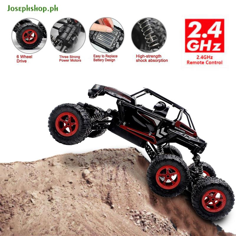JS★ Rc Car Off-Road Truck 1:14 Red Climbing Vehicle